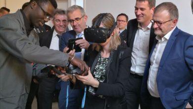 Photo de Ouest-France : visite de Agnès Pannier-Runacher, secrétaire d'Etat auprès du ministre de l'économie