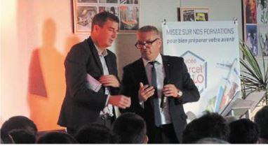 Photo de Ouest-France : remise des medailles du concours général des métiers au lycée Marcel Callo