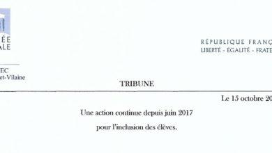 Photo de Tribune : Une action continue depuis juin 2017 pour l'inclusion des élèves…