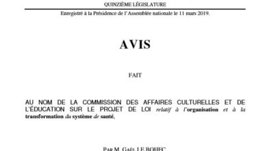 Photo de Rapport pour avis sur le Projet de loi Santé