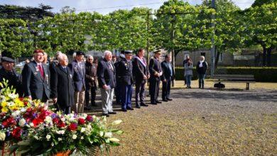 Photo de Ouest-France : cérémonie de commémoration du 8 mai 1945