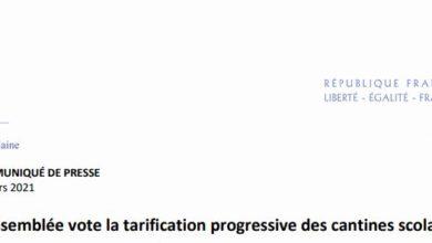 Photo de COMMUNIQUE DE PRESSE : l'Assemblée vote la tarification progressive des cantines scolaires